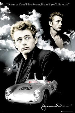 James Dean (Dream, Clouds) Movie Poster Print