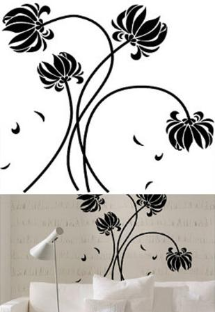 Black Flowers 28 Wall Stickers