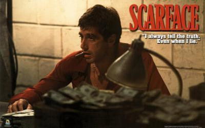Scarface Movie (Counting Money) Poster Print