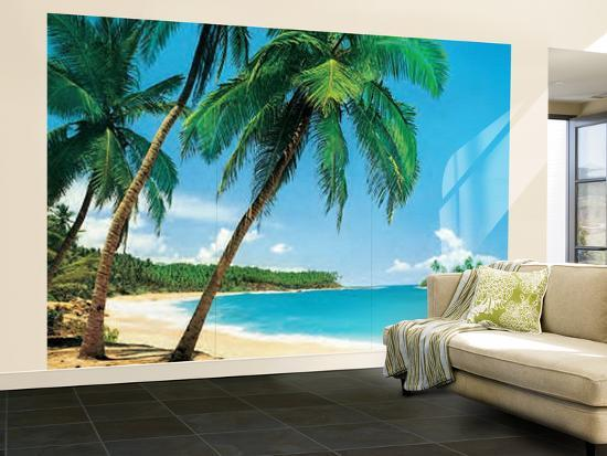 ile tropicale tropical isle wall mural wallpaper mural at. Black Bedroom Furniture Sets. Home Design Ideas