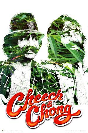 Cheech and Chong Pot Leaves Movie Poster Print