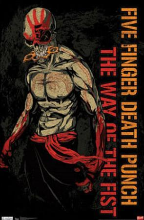 Five Finger Death Punch The Way of the Fist Music Poster Print