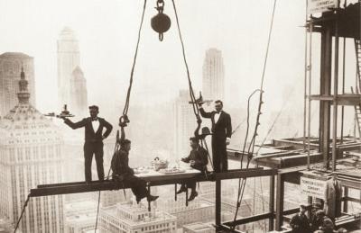 New York City (Men on Girder, Lunch Above Manhattan) Art Poster Print