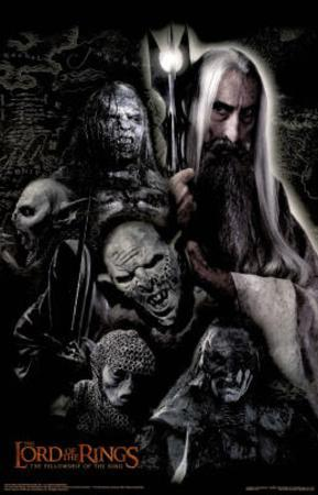 Lord of the Rings The Fellowship of the Ring Saruman and Orcs Movie Poster
