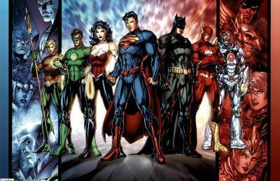 Justice League Group Art Print Poster