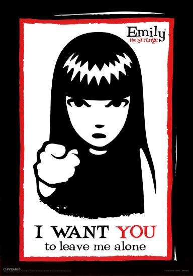d86b50dc40 Emily the Strange I Want You to Leave Me Alone Art Print Poster Posters at  AllPosters.com