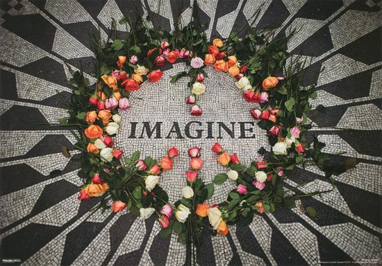 Imagine Central Park Mosaic John Lennon Memorial 3 D Lenticular Music Poster Print Posters At AllPosters