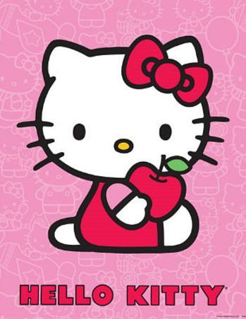 Hello Kitty (Red Apple) Art Poster Print