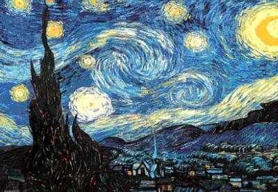 Vincent Van Gogh The Starry Night 3-D Lenticular Poster Art Print