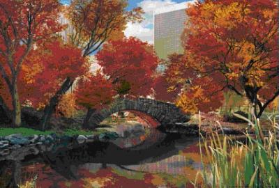 Central Park New York City Seasons 3-D Lenticular Poster Print
