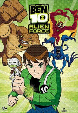 Ben 10 (Alien Force) 3-D TV Poster Print