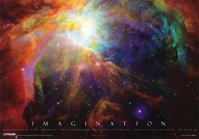 Imagination Nebula Albert Einstein Quote Motivational Poster Print