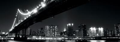 Manhattan Bridge at Night-New York