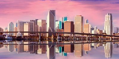Panorama of Downtown-Miami