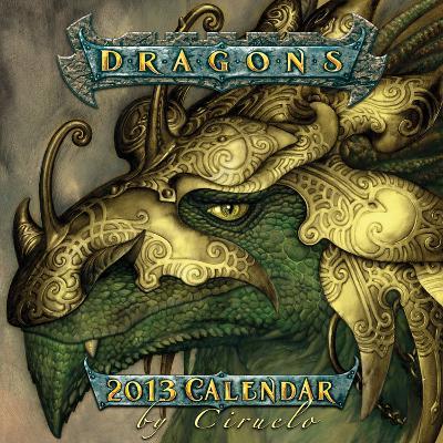 Dragons by Ciruelo - 2013 12-Month Mini Calendar