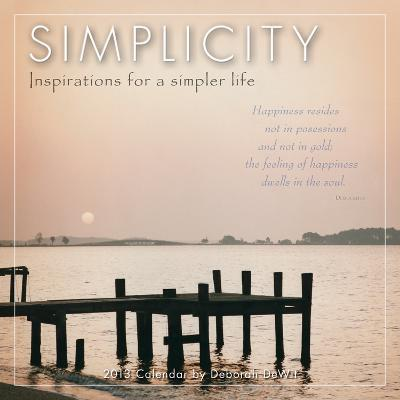 Simplicity  - 2013 12-Month Mini Calendar