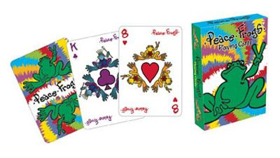 Peace Frogs Playing Cards