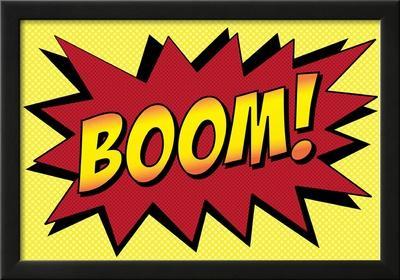 Boom! Comic Pop-Art Art Print Poster