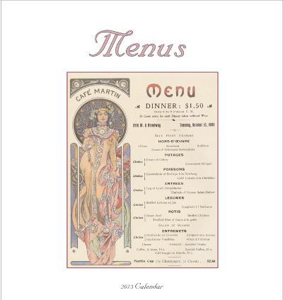 Menus - 2013 Easel/Desk Calendar