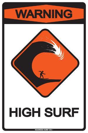 Warning High Surf