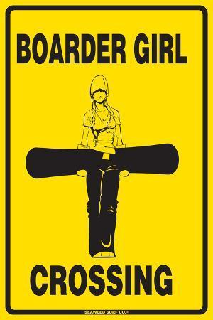 Boarder Girl Crossing