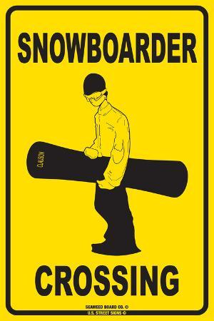 Snowboarder Crossing