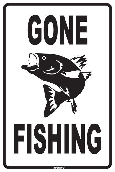 Gone Fishing Tin Sign At Allposters Com