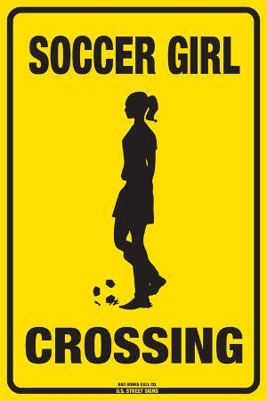 Soccer Girl Crossing