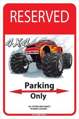 Reserved 4 x4 Parking Only