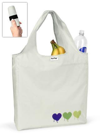 RuMe Trio Spray Heart Reusable Tote Bag - Light Grey