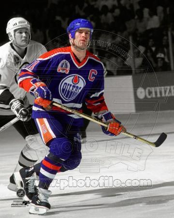 Mark Messier 1990 Stanley Cup Finals Spotlight Action