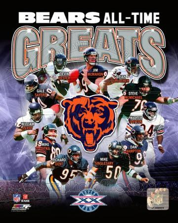 Chicago Bears All-Time Greats Composite