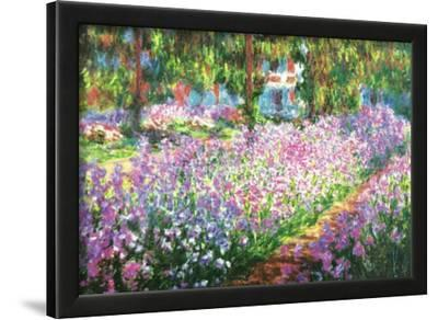Claude Monet (Garden at Giverny) Art Print Poster