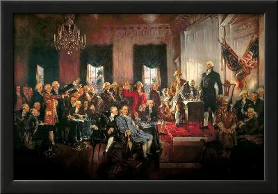 Howard Chandler Christy Scene at the Signing of the Constitution Art Poster Print