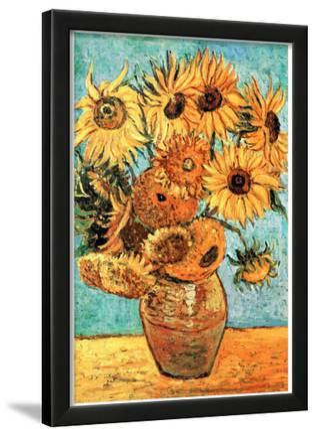 Vincent Van Gogh (Vase with Twelve Sunflowers ) Art Poster Print