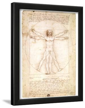 Vitruvian Man 1492 Leonardo da Vinci Davinci art POSTER