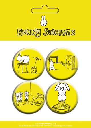 Bunny Suicides Badge Pack