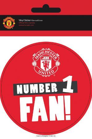 Manchester United - No 1 Fan Vinyl Sticker
