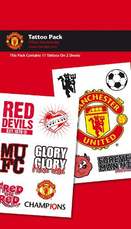 Manchester United Temporary Tattoos