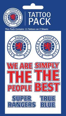 Rangers Temporary Tattoos