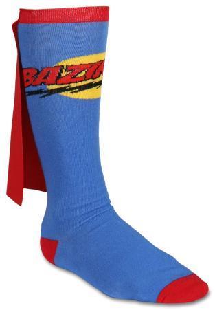 The Big Bang Theory - Bazinga Cape Socks Superman