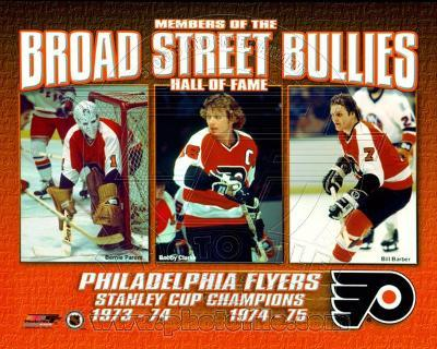 NHL Broad Street Bullies- Bernie Parent, Bobby Clarke, & Bill Barber