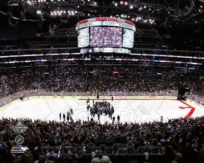 The Staples Center after the Los angeles Kings won Game 6 of the 2012 Stanley Cup Finals