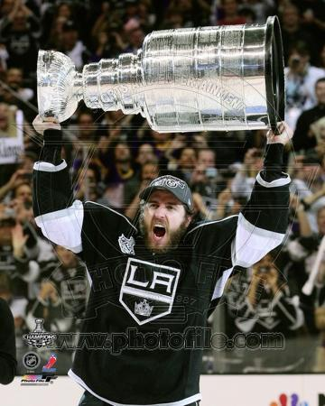 Mike Richards with the Stanley Cup Trophy after Winning Game 6 of the 2012 Stanley Cup Finals