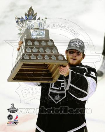 Jonathan Quick With the Conn Smythe Trophy after Winning Game 6 of the 2012 Stanley Cup Finals