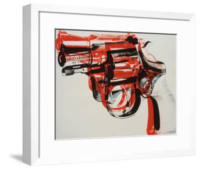 Gun, c.1981-82 (black and red on white)