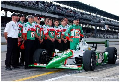 Tony Kanaan with Car and Crew 2003 Indianapolis 500 Indycar Racing Archival Photo Poster