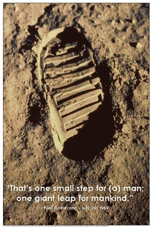 One Small Step (Neil Armstrong's Footprint on Moon)