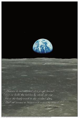 Earthrise (Earth Rising over Moon Horizon)