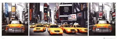 New York City - Taxis Triptych, Times Square